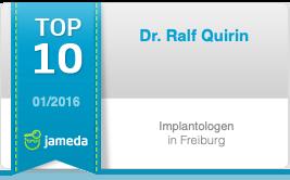 Top 10 Implantologen in Freiburg: Dr. Ralf Quirin